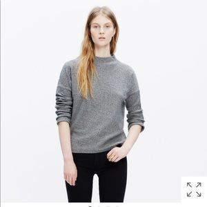 Madewell ribbed funnel neck top